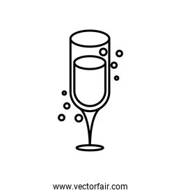 champagne cup line style icon