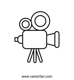 video camera device line style icon