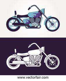 chopper motorcycles style vehicles icons