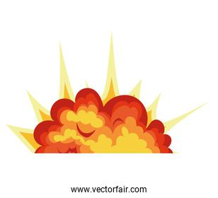 flame of orange, yellow and red color with a white background