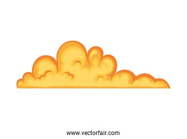 fire cloud on white background