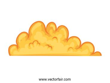 fire cloud over a white background