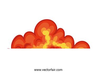 fire cloud of orange and yellow color
