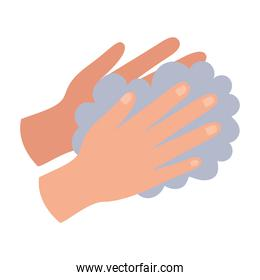 hands and foam flat style icon