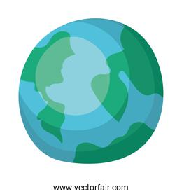 planet earth flat style icon
