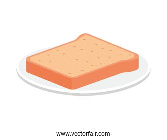 piece of bread on a plate