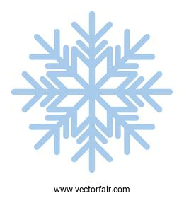 snowflake of blue color in white background