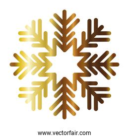 snowflake of color light gold
