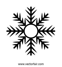 snowflake of black color in white background