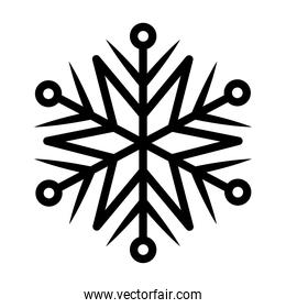 snowflake of black color on white background