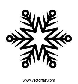 snowflake of black color with white background
