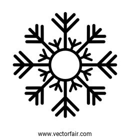 black snowflake with white background