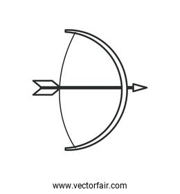 bow with arrow icon vector design