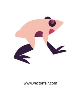 frog abstract style icon vector design