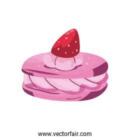 pink cookie with strawberry vector design