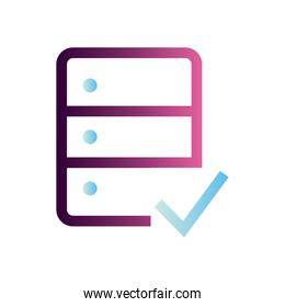 web hosting with check mark vector design