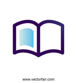 education open book vector design