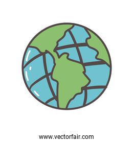 planet world sphere isolated icon