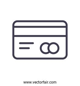 credit card line style icon vector design