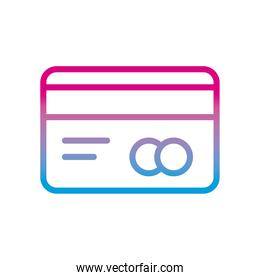 credit card gradient style icon vector design