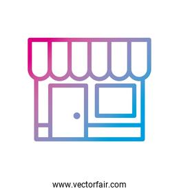 store gradient style icon vector design