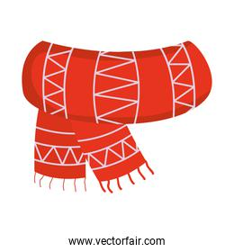 winter scarf with zig zag style vector design