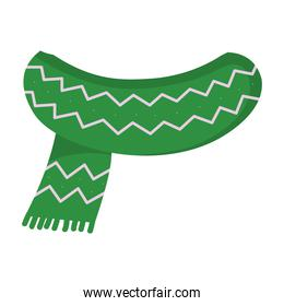winter green scarf isolated icon