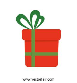 red Gift with green bowtie