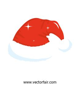 merry christmas santas hat vector design