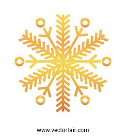 snowflake of winter season gold vector design