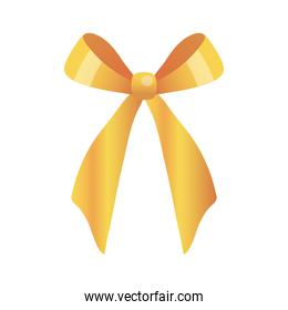 Gift bow gold vector design