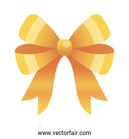 gold bow icon vector design