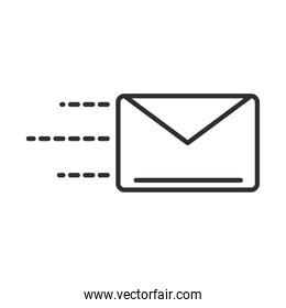 delivery mail courier correspondence line style design