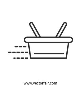 delivery shopping basket store service line style design