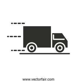 delivery truck transport logistic silhouette icon