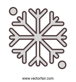 weather winter snowflake cold season line and fill style