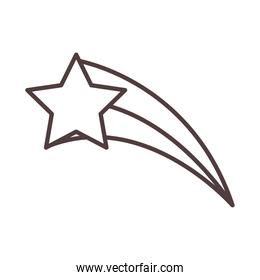 shooting star sky night line icon style