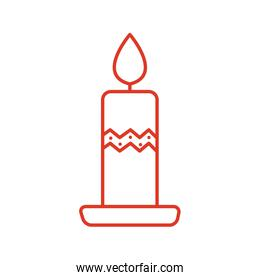 merry christmas candle vector design
