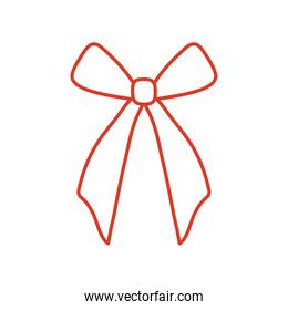 Gift bow icon isolated vector design