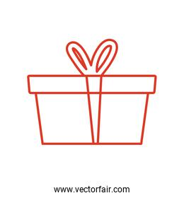 Gift with bowtie of front view vector design