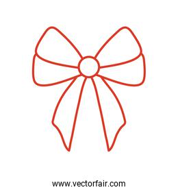 Gift bow isolated vector design