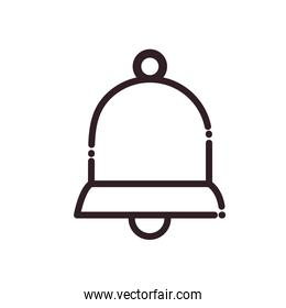 bell line style icon vector design