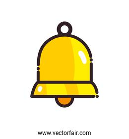 golden bell flat style icon vector design