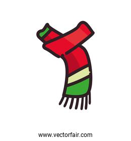 winter scarf flat style icon vector design
