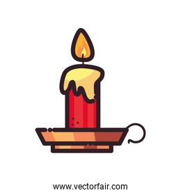candle flat style icon vector design
