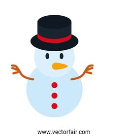 merry christmas snowman vector design