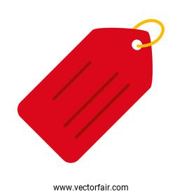 Isolated red label icon vector design