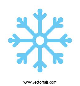 snowflake icon of winter season vector design