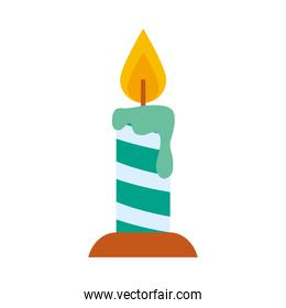 merry christmas green candle vector design