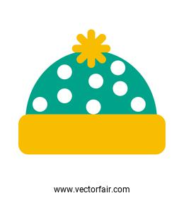 winter pointed hat icon vector design